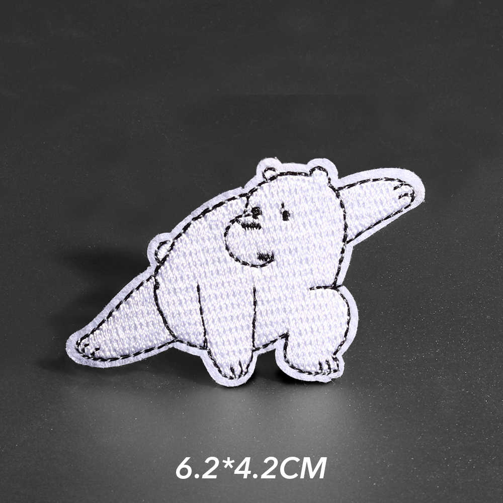 Totoro Panda Patch untuk Pakaian Besi Di Bordir Jahit Bordiran Cute Fox Menjahit Kain Lencana Diy Aksesoris Pakaian
