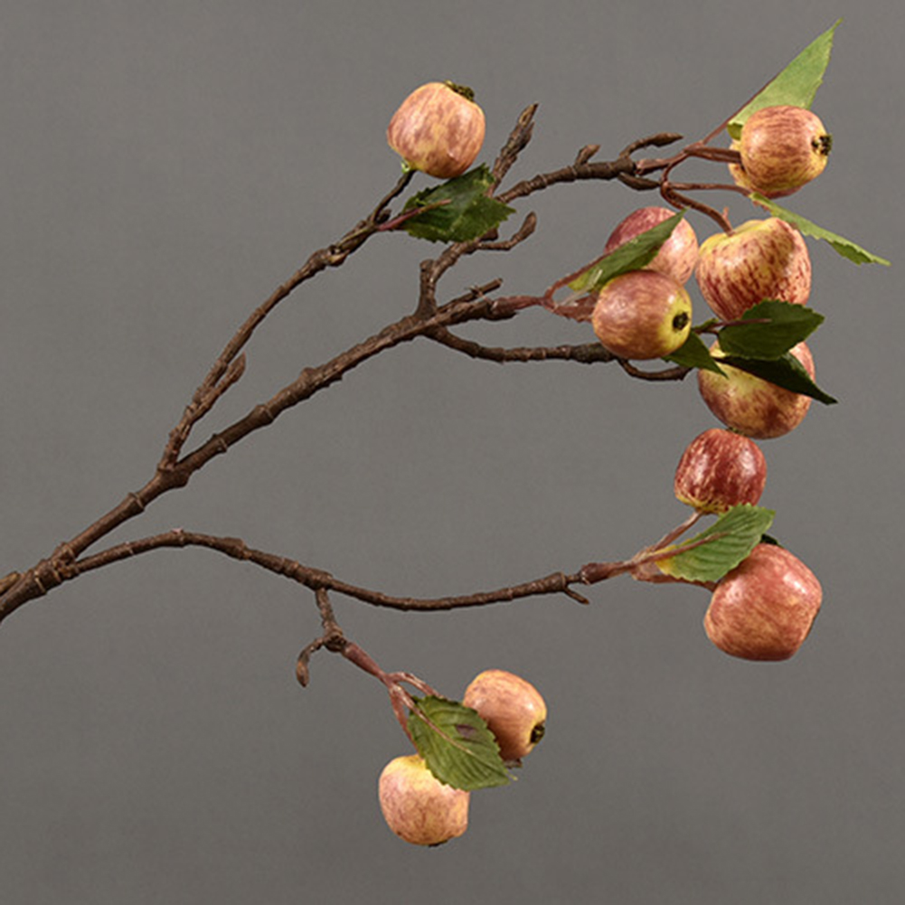 60cm 11 Heads Artificial Mini Apples Tree Flower Branch Real Touch Fake Flowers Simulated Plant Home Garden Wedding Decoration - 5