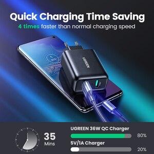 Image 2 - Ugreen USB зарядное устройство Quick Charge 3,0 36W быстрое зарядное устройство адаптер QC3.0 мобильный телефон зарядные устройства для iPhone Samsung Xiaomi Redmi зарядное устройство