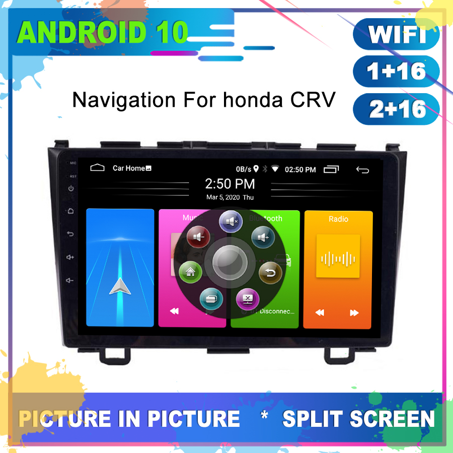 OTOJETA Super Slim Car Android 10.0 GPS for <font><b>Honda</b></font> <font><b>CRV</b></font> CR-V <font><b>2011</b></font> Radio Navigation <font><b>Multimedia</b></font> Player Full Touch Carplay Head Unit image