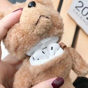Winter Cute Plush Bear for Apple Airpods