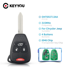 KEYYOU OHT692713AA For JEEP Remote Car Key For Dodge RAM Commander Compass Grand Cherokee Liberty Wrangler Chrysler 315Mhz ID46