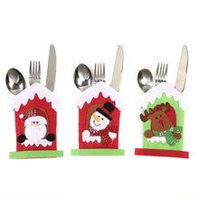 Bag Tableware Cutlery-Holder Home Santa-Hat Reindeer Dinner-Decoration Christmas New-Year