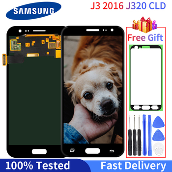 Super AMOLED LCD For Samsung Galaxy J3 2016 J320 Display J320F J320H Touch Screen Digitizer Assembly Replacement WIthink Gift for samsung galaxy j3 2017 j330 lcd display touch screen digitizer replacement for samsung j330f sm j330f phone parts freetools