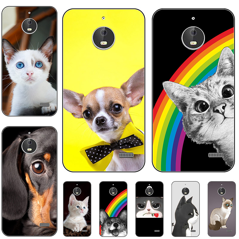 Silicone Phone Case Cover For <font><b>Motorola</b></font> Moto <font><b>E4</b></font> <font><b>XT1762</b></font> XT1772 Case Cute Cartoon Print Soft Back Cover For Moto <font><b>E4</b></font> Cases Coque image