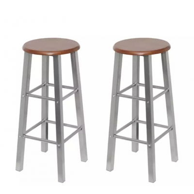 2pcs Industrial Stool Bar Chair Furniture Modern Dining Chair Dining Chair Industrial Style Vintage Industrial