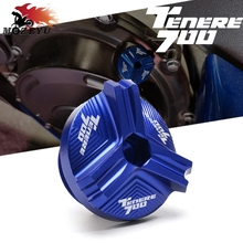 Plug-Cap TENERE Screw-Cover Engine-Oil-Filler-Cover YAMAHA Motorcycle Aluminum with