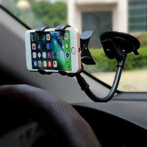 Image 5 - Supporto da Auto universale Supporto Del Telefono Cellulare per Auto Iphone 7 6s Plus SE Del Basamento di Supporto per Samsung Cellulare Flessibile supporto del telefono