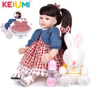 KEIUMI Wholesale 24 Inch Bebe Reborn Cloth Body Beautiful Princess Newborn Todder Dolls Play Toys For Birthday XMAS Surprise(China)