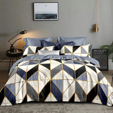 2-People Quilts Duvet-Cover Bed-Linen Geometry Double-Bed White LOVINSUNSHINE for DS08