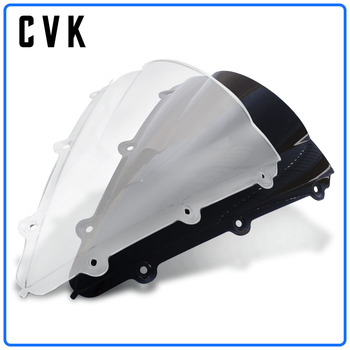 CVK Motorcycle Windshield Spoiler Windscreen Air Wind Deflector For YAMAHA YZF1000 R1 YZF-R1 2004 2005 2006 04 05 06 Parts universal motorcycle windshield airflow adjustable windscreen extension deflector windshield spoiler small