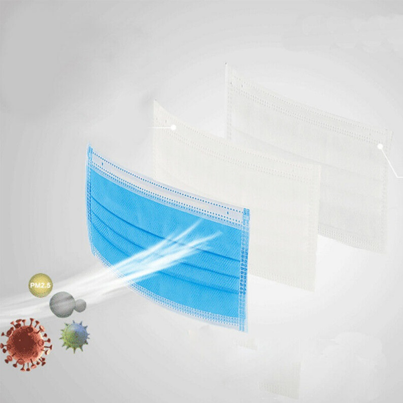 New Arrival Disposable Mask 20/50/100Pcs/Pack pm 2.5 Nonwoven Breathable Single-use 3 Layer Mouth Dust 3ply Face Masks Shields