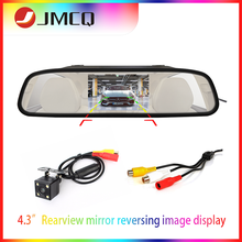 цена на JMCQ 4.3 inch Car Mirror CCD Auto Parking Assistance HD Rearview Video Night Vision Safet  Reversing Rear View NTSC PAL Camera