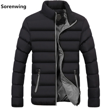 New Mens windbreakers Solid winter jacket men Casual Parkas Men Thermal Coats Slim Fit Thick Warm Mens Coat Brand Clothing 5XL