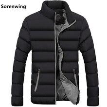 Yeni erkek rüzgarlıkları katı kış ceket erkekler rahat Parkas erkekler termal mont Slim Fit kalın sıcak erkek ceket marka giyim 5XL