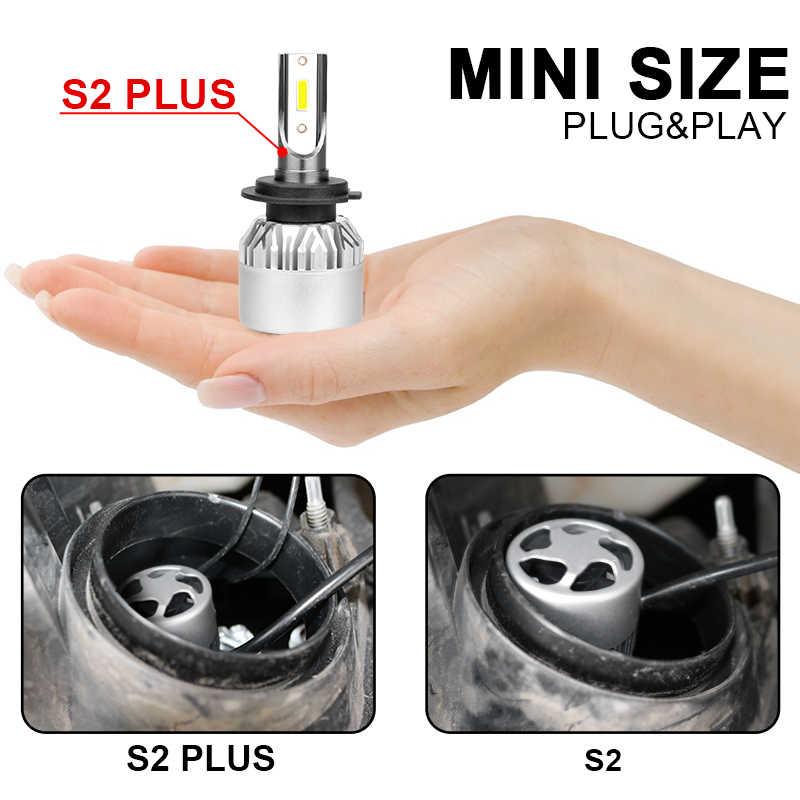 Hlxg H4 светодиодный H7 H11 H8 HB4 HB3 лампа для автомобильных фар, Диод дальнего и ближнего света, 36 Вт, 6500 лм, 4300 К, 8000 К, К, luces светодиодный, для авто, 12 В, nebbia