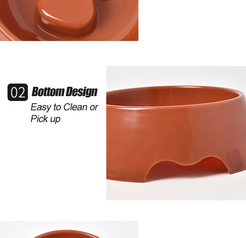 Cute Paw Dog Bowl Plastic Anti Choke Slow Feeder Pet Food Bowls For Cat Water Drinking Products For Dogs Silicone Container 7