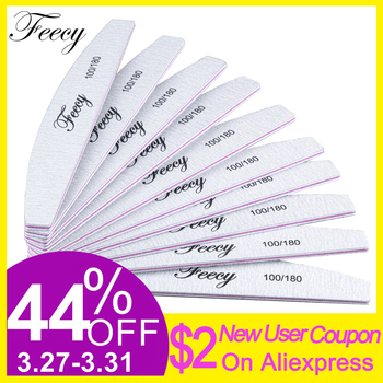 Nail Files For Manicure 10Pcs/Lot 100/180 Strong Thick Boat Sandpaper Durable Buffing Grit  1