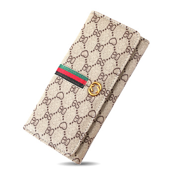 Luxury long wallet for women designer purse Female fashion printed leather clutch money bag handbag card Holder case coin pocket
