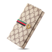 women Luxury long wallet Female designer purses lady printed leather clutch handbag money clip card Holder coin pouch phone case women s coin purses lady polyester pailette hasp small wallet change pouch key card holder clutch handbag wholesale y