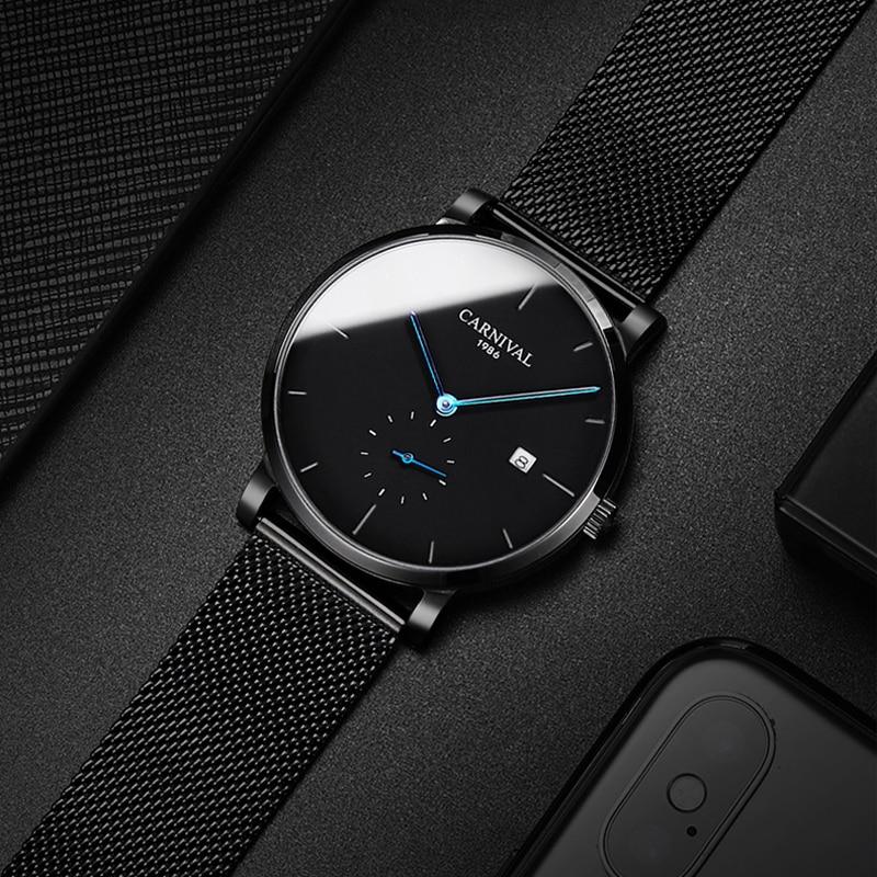 KARNEVAL Mode Herren Uhren Top Brand Luxus Multifunktions Automatische Uhr Männer Kalender Wasserdicht Leucht Mechanische Uhren - 4