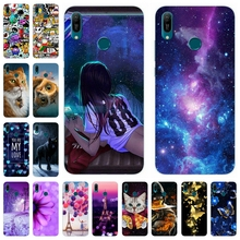 Silicone Cover for Huawei Y6 pro 2019 Case Cute Soft Phone For Prime MRD-LX1 MRD-LX1F