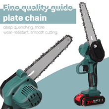 Saw Chainsaw Battery Garden-Tool Woodworking Electric-Chain Pruning Small Rechargeable