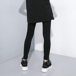 Image 5 - [EAM] גבוהה מותן שחור Slim מכנסיים חדש Loose Fit מכנסי עיפרון נשים אופנה גאות כל התאמה אביב סתיו 2020 1A698