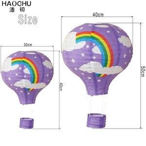 Image 4 - 5PC 大熱気球提灯レインボーハンギングボール白中国の結婚式誕生日ホリデーパーティーの装飾