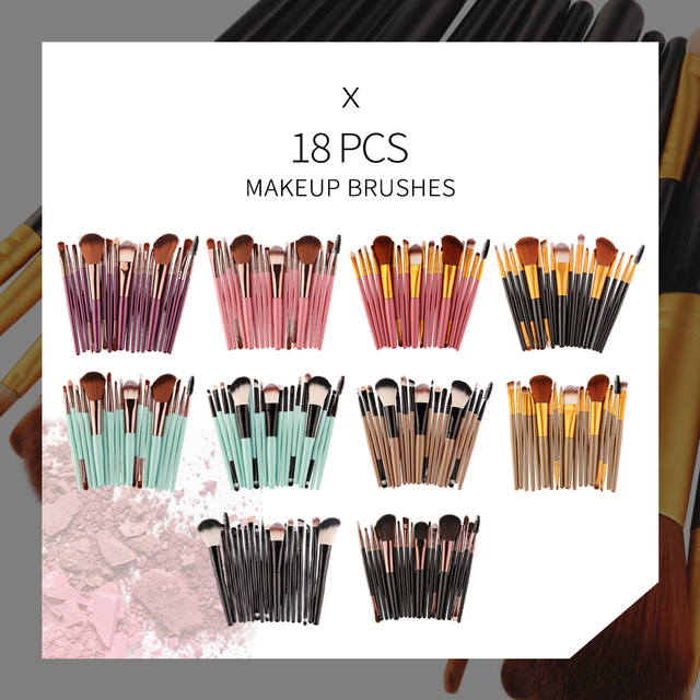 MAANGE 6/15/18/20Pcs Makeup Brushes Tool Set Cosmetic Powder Eye Shadow Foundation Blush Blending Beauty Make Up Brush Maquiagem 5