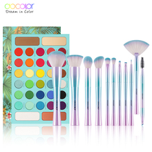 Docolor Professional Eyeshadow Palette 34 Color Charming Shimmer and 11pcs Fantasy Make up Brush Set