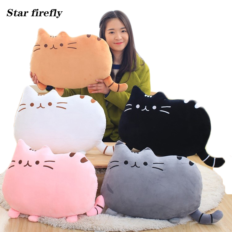 50cm Cute Plush Cat Toys Soft Pillow Stuffed Animal Cat Cushion Pushin Cat With Kitten Doll Kids Baby Birthday Gift Push Een Toy