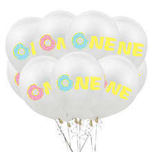 12inch Donut One Year Balloon Oh Baby Latex Balloons Happy Birthday Party Decoration Baby Shower Birthday Balloon Party Balloons oh baby balloons for party decoration heart foil balloons decoration pd 143