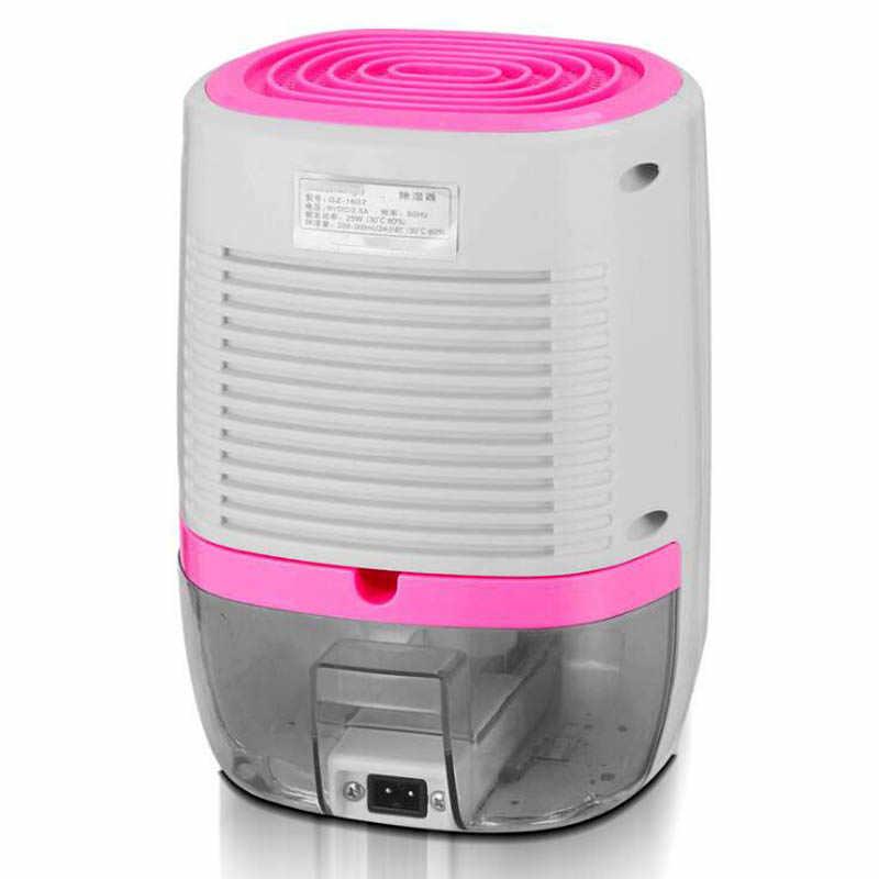 สีชมพู 800 ML เครื่องลดความชื้นแบบ Mini สำหรับ Home 25W ความชื้นเครื่องตู้เสื้อผ้าเสื้อผ้าเครื่องอบผ้า Air เครื่องเป่าผมความชื้นกล่อง