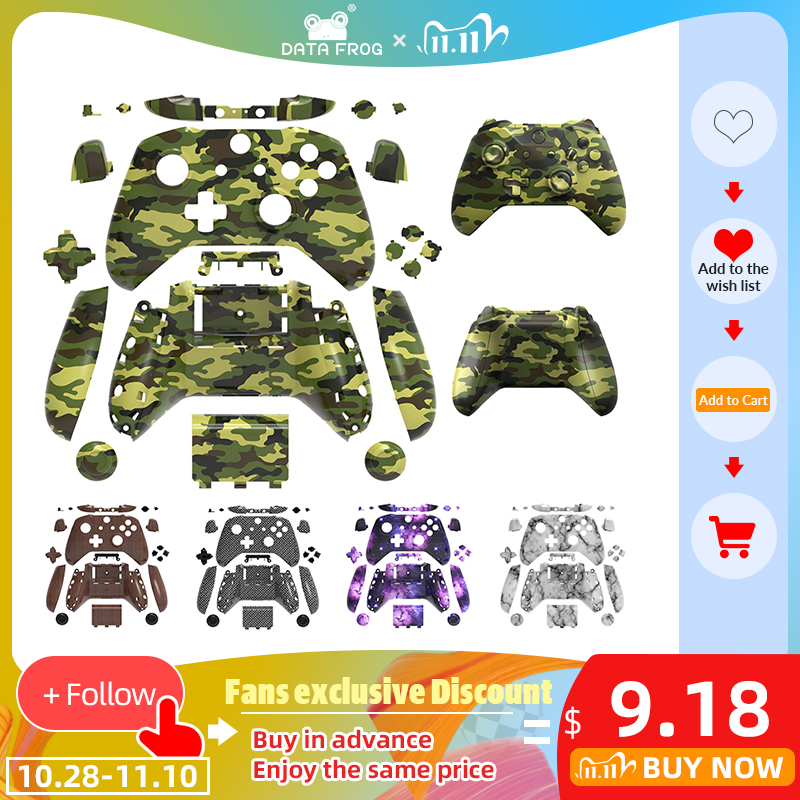 DATA FROG Shell Button for Xbox One Slim Case Accessories Mod Kit Replacement Full Set Cover Housing For Xbox One S Controller