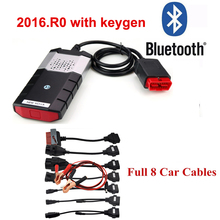 2019 Tcs Cdp For Delphis Ds150e 2016.R0 Keygen Bluetooth Diagnostics Auto Obd2 Scanner Car Diagnostic Tool +8 Pcs Car Cable 16 pin red led main cable suitable for tcs scanner cdp pro plus ds150e ds150 product obd2 auto cable obd 16pin testing cable