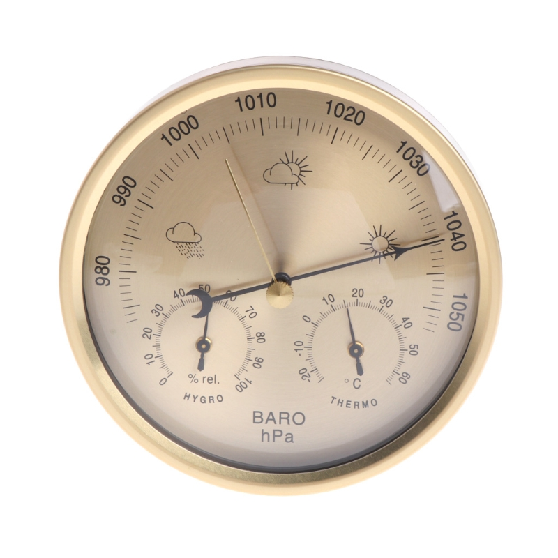 Image 3 - OOTDTY 5 Inches Barometer Thermometer Hygrometer Wall Mounted 