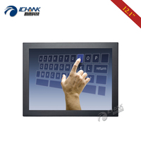 B120TC DUV2/12 Metal Case Wall mounted Industrial Touch Monitor/12 inch 1024x768 4:3 Embedded DVI VGA Touch LCD Screen Display