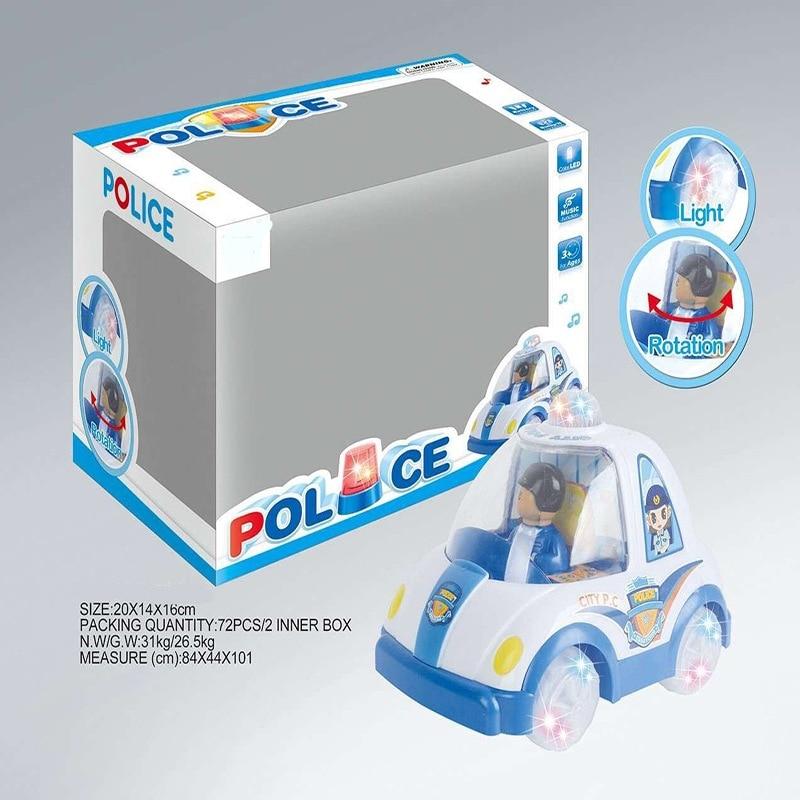 Children Electric Universal Car Toy Boy Model Universal Police Car Light Included Light Boy Police Model Toy Car