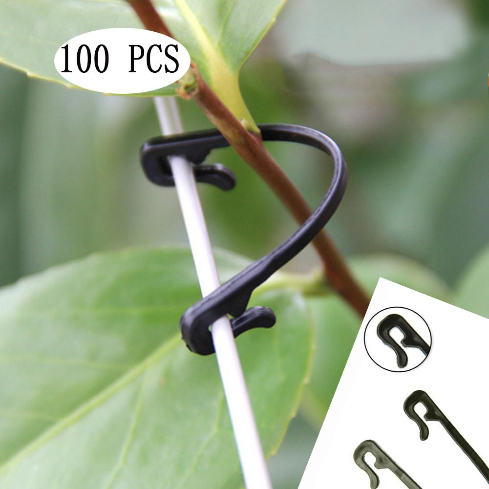 100 Pieces Vines Fastener Tied Buckle Hook Plant Vegetable Grafting Clips Agricultural Greenhouse Supplies Garden Supplies