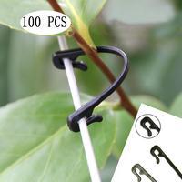 100 peças videiras prendedor amarrado fivela gancho planta enxertia de vegetais clipes agrícolas fontes de efeito estufa jardim Gaiolas e suportes p/ plantas     -