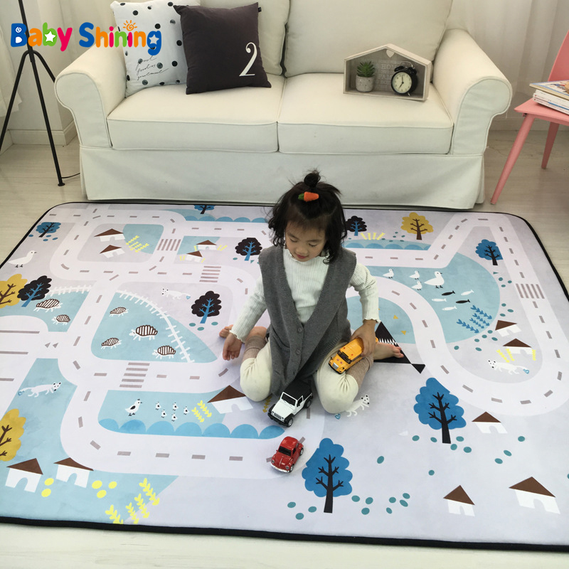 Baby Shining Mat 1.5CM(0.6in) Thickness Children Play Mat Velvet Carpet 150*200CM(60*78.7in) Baby Crawling Mat Non-slip