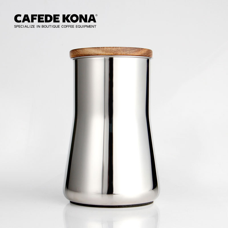 CAFEDE KONA Barista assistant sifter filter fine powder coffee smell cup grinder powder feeder hand coffee stainless steel 350ml|Manual Coffee Grinders| |  - title=