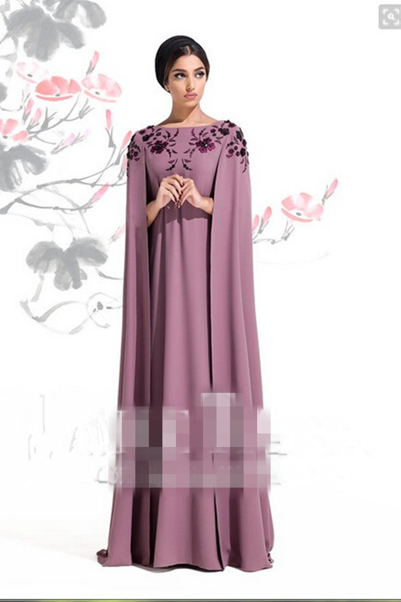 New Saree Robe De Soiree Courte Vestidos De Formatura Embroidery Purple Evening Party Long Shawl Mother Of The Bride Dresses