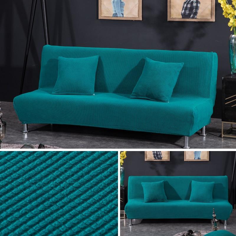 Armless Sofa Bed Cover Polar Fleece