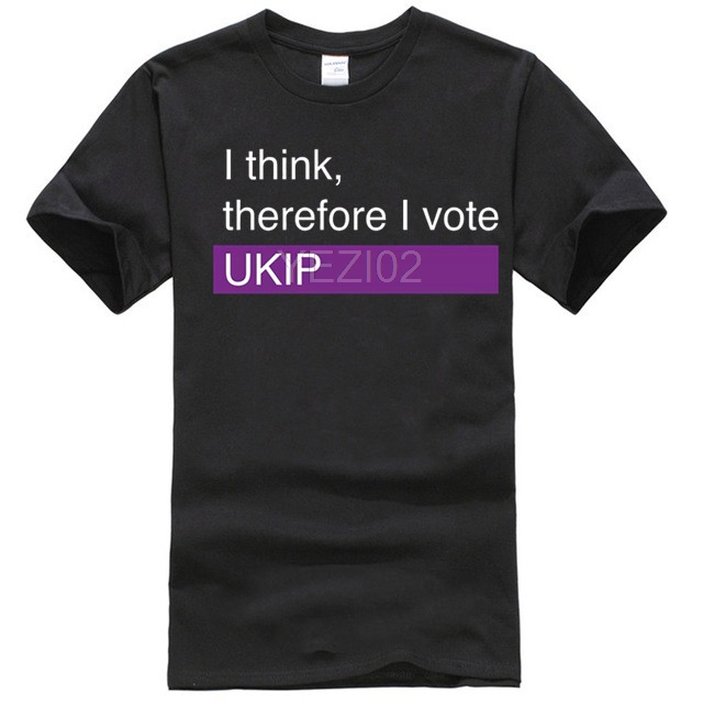 I think, therefore I vote <font><b>UKIP</b></font> Mens T-Shirt - Election - Politics - Batten image