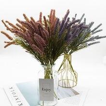 10 пакетов солодовая Трава Искусственные цветы зеленые растения