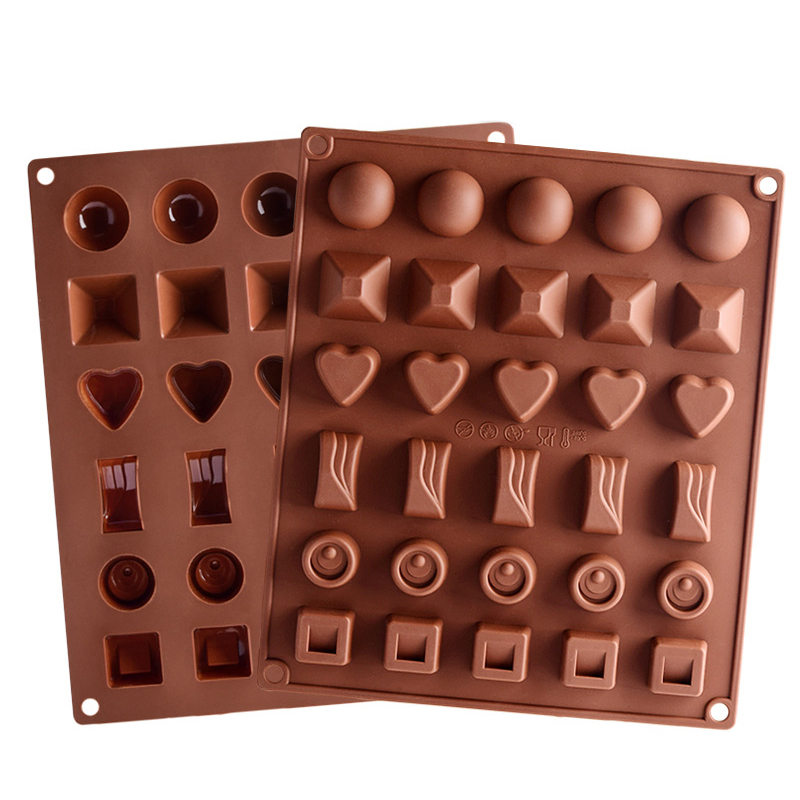 New Silicone Chocolate Mold Chocolate Baking Tools Non-stick Silicone Cake Mold Jelly Candy Mold 3D Mold DIY High Quality
