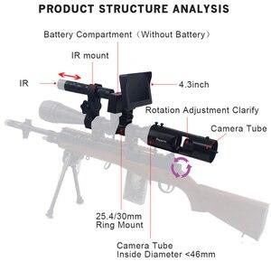 Image 4 - חיצוני ציד אופטיקה משקפת טקטי דיגיטלי לייזר אינפרא אדום ראיית לילה טלסקופ משקפת עם ir עבור Sight