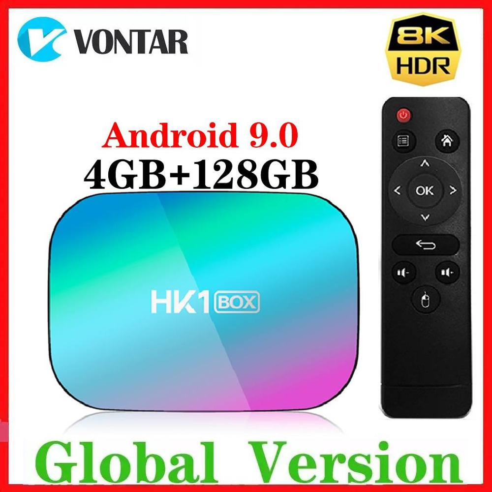 2020 4GB RAM 128GB ROM Amlogic S905X3 8K TV BOX Android 9.0 HK1 1000M Dual Wifi Google Player Netflix Smart Media Player 2G/8G